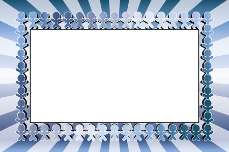 Image material, friends, team, fellow, member, circle, group, classmate, photo frame, name tag, price tag,  イラスト・ベクター素材
