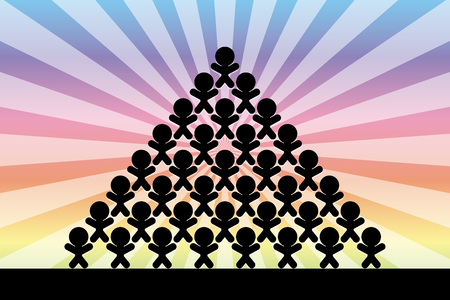 Image material, Unity, Teamwork, Fellow, Collaborators, Pyramid, Concentrated Line, Collective Behavior, Company Organization, Community Ilustrace