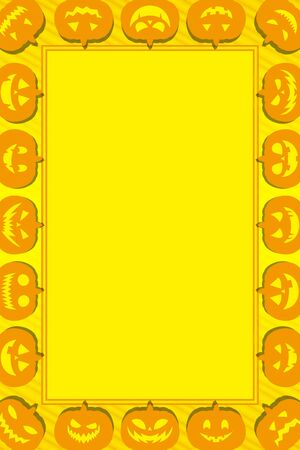 Background material, photo frame, Halloween, pumpkin, autumn, dress, name tags, invitations, Jack-o-lantern,