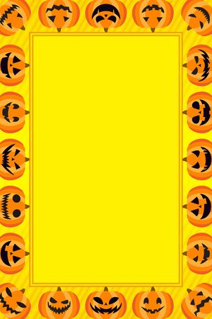 Background material, Halloween, pumpkin, Chronicle, costume party, haunted, kids, name cards,