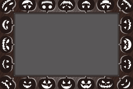 Background materials, greeting cards, photo frames, Halloween, haunted pumpkin, lantern, costume party