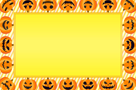 Background materials, greeting cards, photo frames, Halloween, haunted pumpkin, lantern, costume party Vetores