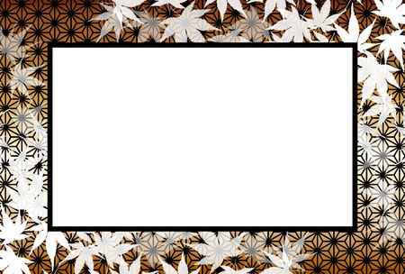 Background, photo frame, photo frame, autumn, Momiji leaves, the title space, which leaves, rot away leaves, autumn leaves, margin, retrochic Illustration