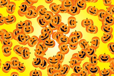 秋のイベント資料、ハロウィーン、お化けカボチャのパターン、クロニクル、収穫祭、派手なドレスパーティー、夜