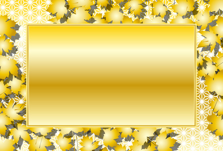 Material background wallpaper, autumn, autumn leaves, maple leaf, leaves, autumn leaves, photo frame, title, Japanese-style image, hemp leaf pattern, pattern Standard-Bild - 109060332