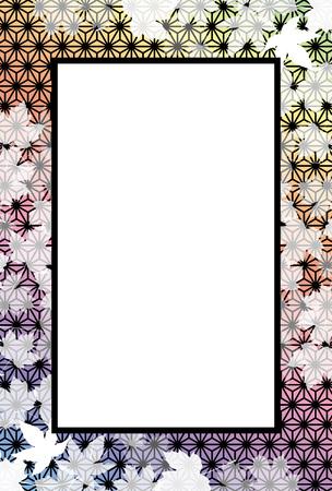 Background material, autumn, autumn leaves, maple leaf, leaves, photographs, message board, Ryu, hemp leaf, title frame, Japanese-style frame