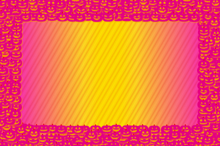 Background material wallpaper, picture frames, Halloween, party, pumpkins, copy space, fall events Ilustrace