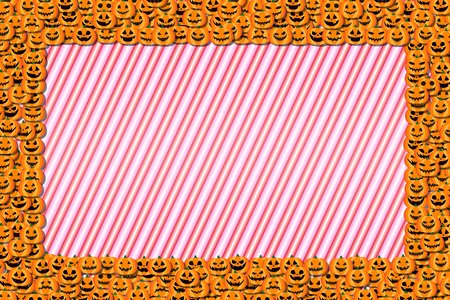Background material, photo frames, Halloween party, greeting cards, pumpkin, invitation, invitations, fall,  イラスト・ベクター素材