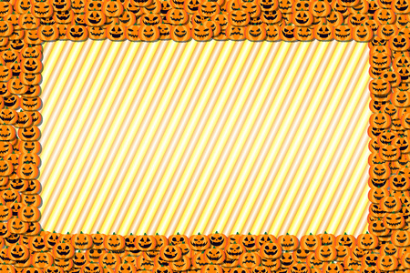 Background material, photo frames, Halloween party, greeting cards, pumpkin, invitation, invitations, fall, Ilustracja