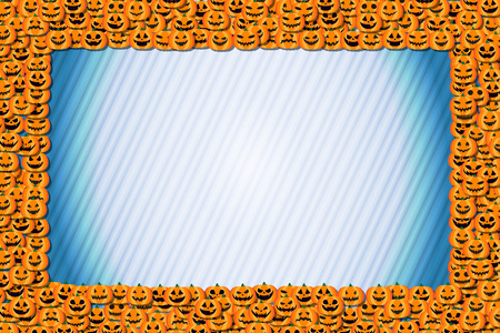 Event background materials, photo frames, Halloween, Chronicle, pumpkin, copy space, fall,