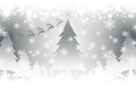 Crystal image background illustration, White Christmas, ???, Merry Christmas, Santa, tree, winter, snow, snow