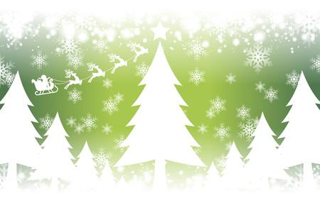 Crystal image background illustration, White Christmas, ???, Merry Christmas, Santa, tree, winter, snow, snow