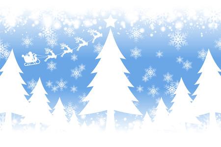 Crystal image background illustration, White Christmas, ???, Santa, tree, winter, snow, snow