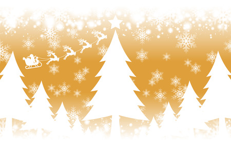 Crystal image background illustration, White Christmas, ???, Santa, tree, winter, snow, snow