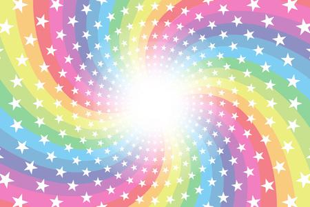 Material de fondo, arco iris, arco iris, estrellas brillantes, espirales, radial, fiesta, entretenimiento, feliz,