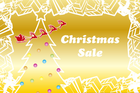 Background material, gifts, Christmas sale, gift, Merry Christmas, flyers, ads, advertising, pop,  イラスト・ベクター素材
