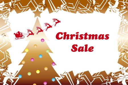 Christmas sale background Иллюстрация