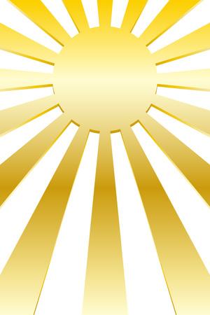 Background material, solar, image, radiation, Central line, Sunrise, sunset, Sunrise, manga, animation, expressions, effects line  イラスト・ベクター素材