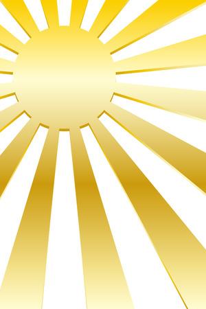 Background material, solar, image, radiation, Central line, Sunrise, sunset, Sunrise, manga, animation, expressions, effects line Illustration