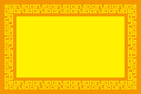 frame design template material. Chinese patterns design with copy space. can use as background, menu, price tag, title. vector illustration.