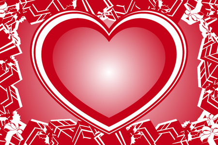 Valentines day red heart pattern. space for titles and messages, background material wallpaper