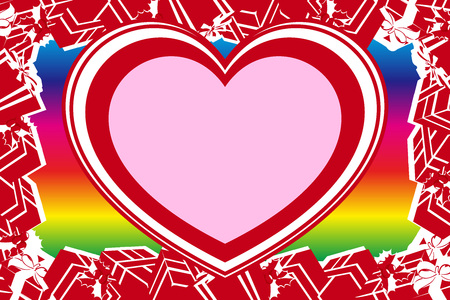Valentine's day red heart pattern. space for titles and messages, background material wallpaper