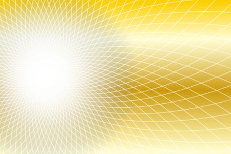 Illustration, light, waves, ripples, bright sun light, laser, radiation, free materials, glittering, simple  イラスト・ベクター素材