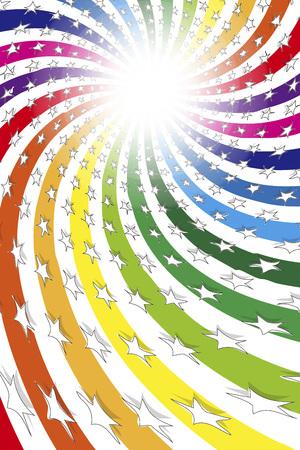Colorful illustration, glitter, Rainbow swirl, paradise, paradise, happiness, joy, fun, energetic, lively, kids