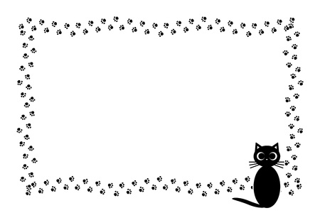 Background illustration cat footprint