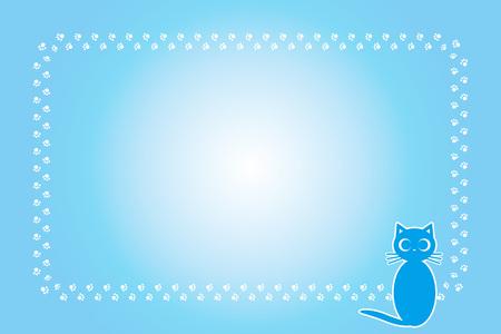 Background material, cat footprint, meat ball, kitten, animal, cute, illustration, pet shop, Pop art, free Illustration