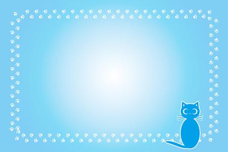 Background material, cat footprint, meat ball, kitten, animal, cute, illustration, pet shop, Pop art, free