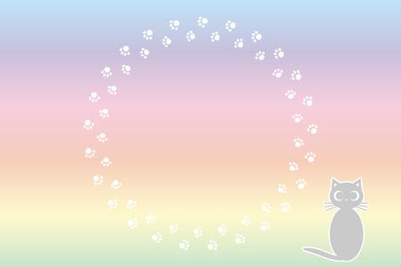 Background illustration cat footprint