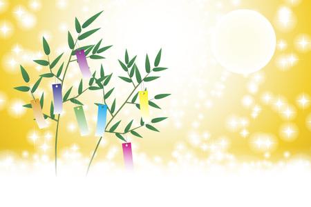 Japanese style illustration, Tanabata Festival, Milky Way, free size, free, fun party,