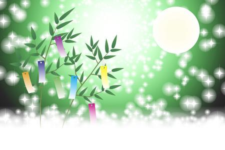 Japanese background illustration. Stock Vector - 126051270