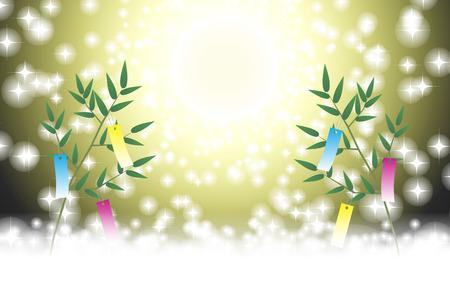 Japanese style illustration. Illustration