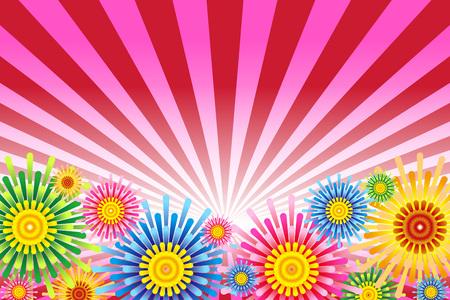 Illustration fireworks background Stock Illustratie