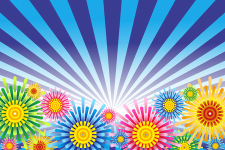 Illustration fireworks background Stockfoto - 125698445