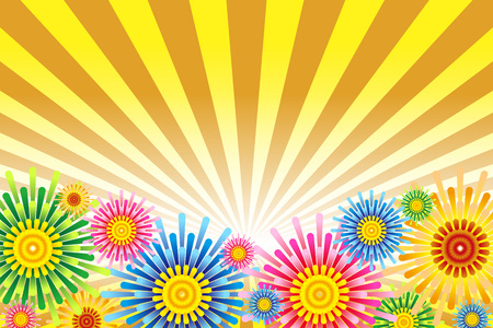 Illustration fireworks background Illustration