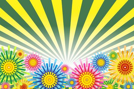 Illustration fireworks background  イラスト・ベクター素材