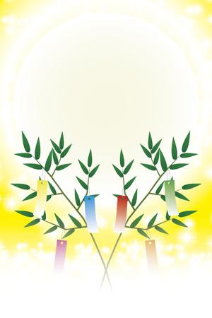 Free background material, Stardust, Milky Way, tanabata festival, bamboo ornament, glitter, summer image, illustration wallpaper, propaganda poster, light