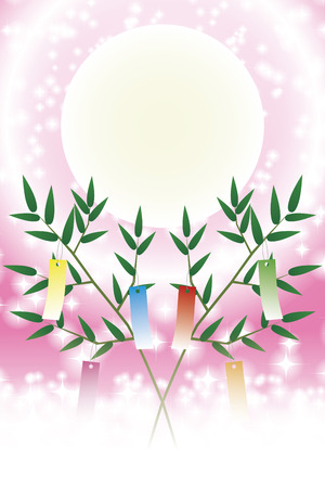 Japanese style illustration, Tanabata Festival, Milky Way, free size, free, fun party, image, promo poster