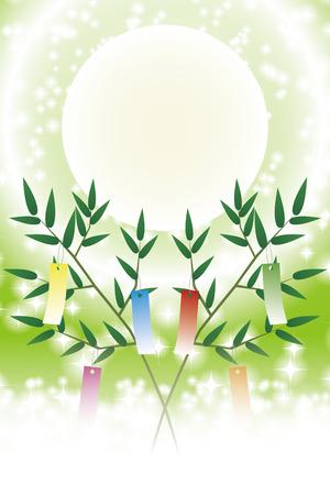Japanese style illustration, Tanabata Festival, Milky Way, free size, free, fun party, image, Illustration