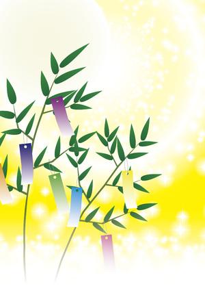 Japanese style illustration, Tanabata Festival, Milky Way, free size, free, fun party, image, Stock Illustratie