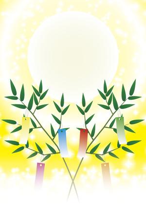 Japanese style illustration, Tanabata Festival, Milky Way, free size, free, fun party, image,  イラスト・ベクター素材