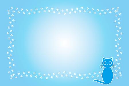 Background material, cat footprint, meat ball, kitten, animal, cute, illustration, animal Hospital, Pet shop, advertising, free material