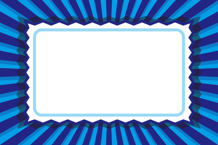 Frame, price tag, nameplate, title space, message, focus line, retro illustration background material Çizim