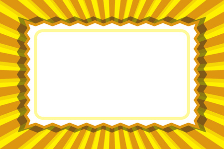 Frame, price tag, nameplate, title space, message, focus line, retro illustration background material  イラスト・ベクター素材