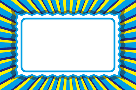 Free illustration, photo frame, name tag, price tag, copy space, message, free, focus line, retro, picture frame
