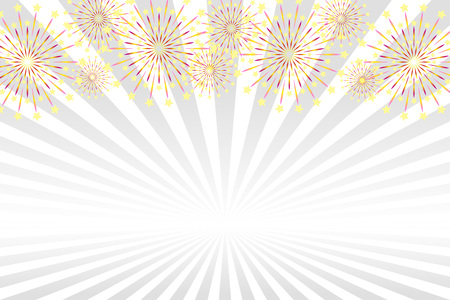 Illustration background wallpaper, firework image, fireworks, summer festival, advertising posters, party events, free material