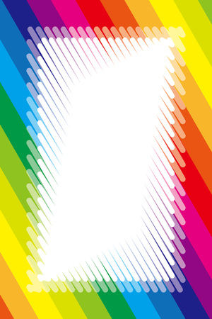Illustration background material, rainbow color, copy space, title frame, name tag, price tags, colorful frame, striped, stripes
